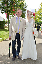 WILLIAM CASH and CHARLOTTE RADFORD at day 3 of the Qatar Glorious Goodwood Festival at Goodwood Racecourse, Chechester, West Sussex on 28th July 2016.