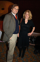 Writer RACHEL JOHNSON and her husband  at the launch of  'Idiot-Proof Diet' by Neris Thomas and India Knight held at The Arts Club, 40 Dover Street, London on 11th January 2007.<br /><br />NON EXCLUSIVE - WORLD RIGHTS