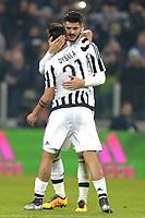 Esultanza Alvaro Morata e Paulo Dybala Juventus a fine gara,<br /> Torino 27-01-2016, Juventus Stadium, Football Calcio 2015/2016 Coppa Italia, Juventus - Inter, Foto Filippo Alfero/Insidefoto