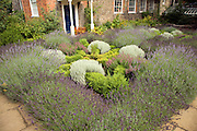 Herb garden in the cathedral grounds, Norwich, Norfolk, England