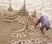 Sand castles Cascais a coastal town in Cascais Municipality in Portugal