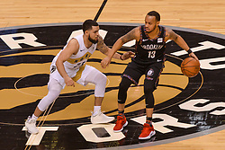 January 11, 2019 - Toronto, Ontario, Canada - Fred VanVleet #23 of the Toronto Raptors against Shabazz Napier #13 of the Brooklyn Nets during the Toronto Raptors vs Brooklyn Nets NBA regular season game at Scotiabank Arena on January 11, 2019, in Toronto, Canada (Toronto Raptors win 122-105) (Credit Image: © Anatoliy Cherkasov/NurPhoto via ZUMA Press)