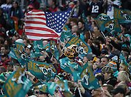 There was a mixture of fans in the stadium, some even supporting other teams that were not playing during the Buffalo Bills v Jacksonville Jaguars NFL International Series match at Wembley Stadium, London, England on 25 October 2015. Photo by Matthew Redman.
