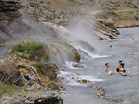 Boiling River near Mammoth Hot Springs, Yellowstone National Park