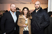 Connacht rugby's , Sean  Henry , Lorna Byrne and John Muldoon Connacht rugby at The Jameson The Black Barrel Craft Series  at Old printing works, Market Street with music by Corner boy.  Photo:Andrew Downes