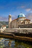 scenic view of the Our Lady of the Rocks Island Church (Gospa od Skrpjela), Kotor Bay, Montenegro