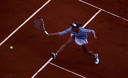 June 2, 2017 - Paris, France - Elise Mertens of Belgium returns the ball to Venus Williams of United States during the third round at Roland Garros Grand Slam Tournament - Day 6 on June 2, 2017 in Paris, France. (Credit Image: © Robert Szaniszlo/NurPhoto via ZUMA Press)