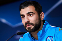Napoles'es defender Raul Albiol during the press conference before Champions League Match between Real Madrid and Napoles at Santiago Bernabeu Stadium in Spain. February 14, 2017. (ALTERPHOTOS/Rodrigo Jimenez)