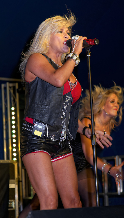 London, United Kingdom - 29 June 2013<br /> Gay Pride 2013 celebration. Singer and former Page 3 topless model Sam Fox performing at Summer Rites / Pride Party In The Park, Shoreditch Park, Hoxton, London, England, UK.<br /> Contact: Equinox News Pictures Ltd. +448700780000 - Copyright: ©2013 Equinox Licensing Ltd. - www.newspics.com<br /> Date Taken: 20130629 - Time Taken: 190724