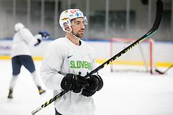 "Nik Simsic during practice session of Slovenian Ice Hockey National team before ""Beat Covid-19 Ice Hockey Tournament"", on May 12, 2021 in Hala Tivoli, Ljubljana, Slovenia. Photo by Vid Ponikvar / Sportida"