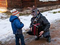 14.02.2015 Rumszyszki ( Rumsiskes ) Litwa n/z zapusty w skansenie , jednym z najwiekszych w Europie Wschodniej ** Lithuania ( Baltic States ) , Kaunas County , Rumsiskes , Open air ethnographic museum , Shrove Tuesday ** fot Michal Kosc / AGENCJA WSCHOD