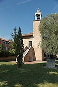 Chapel in the grounds of The Cathedral of Santa Maria Assunta (Cattedrale di Santa Maria Assunta), Island of Torcello, Venice, Italy, Europe
