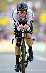 July 28, 2018 - Espelette, France - ESPELETTE, FRANCE - JULY 28 :  IMPEY Daryl of Mitchelton-Scott during stage 20 of the 105th edition of the 2018 Tour de France cycling race, an individual time-trial stage of 31 kms between Saint-Pee-sur-Nivelle and Espelette on July 28, 2018 in Espelette, France, 28/07/2018 (Credit Image: © Panoramic via ZUMA Press)
