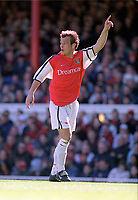 Fotball. Engelsk Premier League. 2001/2002. 06.04.2002.<br /> Arsenal v Tottenham.<br /> Fredrik Ljungberg, Arsenal.<br /> Foto: David Price, Digitalsport.