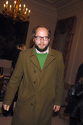 CHARLIE MCVEIGH at a party to celebrate the publication of The End of Sleep by Rowan Somerville held at the Egyptian Embassy, London on 27th March 2008.<br /><br />NON EXCLUSIVE - WORLD RIGHTS