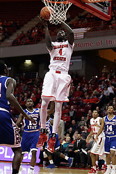 "22 December 2015: Daouda ""David"" Ndiaye (4) gets free inside for a pair of points. Illinois State Redbirds host the Tennessee State Tigers at Redbird Arena in Normal Illinois (Photo by Alan Look)"
