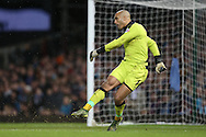 Goalkeeper Carl Ikeme of Wolverhampton Wanderers takes a goal kick. The Emirates FA cup, 3rd round match, West Ham Utd v Wolverhampton Wanderers at the Boleyn Ground, Upton Park  in London on Saturday 9th January 2016.<br /> pic by John Patrick Fletcher, Andrew Orchard sports photography.