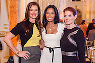 Brooke Shields, Padma Lakshmi, and Debra Messing pose for a photo at the 27th Annual Power Lunch for Women to benefit Citymeals-on-Wheels.