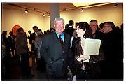 Frank Dunphy and Molly Dent-Brocklehurst. Product: Richard Hamilton private view, Gagosian Gallery. London. 13 January 2003.  © Copyright Photograph by Dafydd Jones 66 Stockwell Park Rd. London SW9 0DA Tel 020 7733 0108 www.dafjones.com