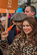 Sophie Ellis Bextor - #March4Women 2018, a march and rally in London to celebrate International Women's Day and 100 years since the first women in the UK gained the right to vote.  Organised by Care International the march stated at Old Palace Yard and ended in a rally in Trafalgar Square.