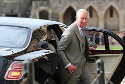 The Prince of Wales arrives ahead of the wedding of Princess Eugenie to Jack Brooksbank at St George's Chapel in Windsor Castle.
