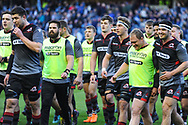 Edinburgh team were in good spirits before the Guinness Pro 14 2017_18 match between Edinburgh Rugby and Glasgow Warriors at Myreside Stadium, Edinburgh, Scotland on 28 April 2018. Picture by Kevin Murray.