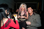 ALICE JEFFORD; STEVE STRANGE, 30 Years Of i-D - book launch. Q Book 5-8 Lower John Street, London . 4 November 2010. -DO NOT ARCHIVE-© Copyright Photograph by Dafydd Jones. 248 Clapham Rd. London SW9 0PZ. Tel 0207 820 0771. www.dafjones.com.