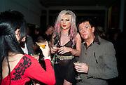 ALICE JEFFORD; STEVE STRANGE, 30 Years Of i-D - book launch. Q Book 5-8 Lower John Street, London . 4 November 2010. -DO NOT ARCHIVE-© Copyright Photograph by Dafydd Jones. 248 Clapham Rd. London SW9 0PZ. Tel 0207 820 0771. www.dafjones.com.