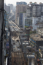 April 27, 2017 - Dhaka, Bangladesh - Bangladeshi worker work on flyover construction where they are not using any safety equipment in Dhaka, Bangladesh on April 27, 2017. Several flyover accident occur in Bangladesh, major in 2012, 12 was died flyover accident in Chittagong and in 2015, died siblings during Maghbazar flyover construction. (Credit Image: © Zakir Hossain Chowdhury/NurPhoto via ZUMA Press)