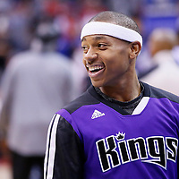 23 November 2013: Sacramento Kings point guard Isaiah Thomas (22) is seen prior to the Los Angeles Clippers 103-102 victory over the Sacramento Kings at the Staples Center, Los Angeles, California, USA.