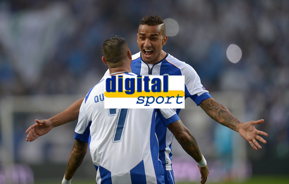 BILDET INNGÅR IKKE I FASTAVTALEEN PÅ NETT<br /> <br /> Fotball<br /> 15.04.2015<br /> Foto: imago/Digitalsport<br /> NORWAY ONLY<br /> <br /> CHAMPIONS LEAGUE VIERTELFINAL HINSPIEL FC Porto - FC Bayern München<br /> <br /> Ricardo Quaresma (vorn) und Danilo (beide FC Porto) jubeln