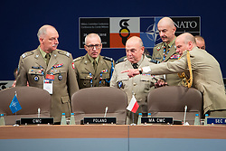 September 29, 2018 - Warsaw, Poland - Chairman of the NATO Military Committee, Air Chief Marshal Sir Stuart Peach during a  opening ceremony of the NATO Military Committee Conference meeting at Double Tree by Hilton hotel in Warsaw, Poland on 29 September 2018  (Credit Image: © Mateusz Wlodarczyk/NurPhoto/ZUMA Press)