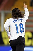 "Hernan Crespo (Inter) esulta dopo il gol<br />Italy ""Tim Cup"" 2006-2007<br />24 Jan 2007 <br />Sampdoria-Inter (0-3)<br />""Luigi Ferraris"" Stadium-Genova-Italy<br />Photographer:Jennifer Lorenzini INSIDE"