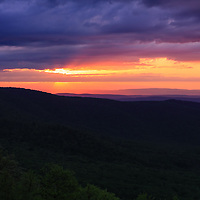"""""""As Night Falls on the Ridges""""<br /> <br /> Tranquil beauty as the sun sets over the Blue Ridge Mountains of Virginia!!<br /> <br /> The Blue Ridge Mountains by Rachel Cohen"""