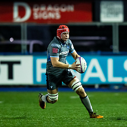 James Botham of Cardiff Blues<br /> <br /> Photographer Simon King/Replay Images<br /> <br /> European Rugby Challenge Cup Round 2 - Cardiff Blues v Leicester Tigers - Saturday 23rd November 2019 - Cardiff Arms Park - Cardiff<br /> <br /> World Copyright © Replay Images . All rights reserved. info@replayimages.co.uk - http://replayimages.co.uk