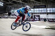 #741 (ARBOLEDA OSPINA Diego Alejandro) COL during practice at the 2019 UCI BMX Supercross World Cup in Manchester, Great Britain