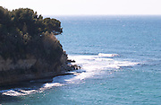 A cliff in cassis and the sea, view Cassis Cote d'Azur Bouches du Rhone France