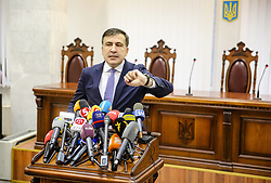 January 3, 2018 - Kiev, Ukraine - Appeal court of Kyiv hears the case on the arrest of  ukrainian politic and Georgian former president Mikheil Saakashvili, Kyiv, Ukraine, Jan. 3, 2017. (Credit Image: © Sergii Kharchenko/NurPhoto via ZUMA Press)