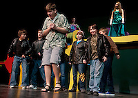 """Gilford Middle School dress rehearsal for their winter musical """"Seussical"""".  (Karen Bobotas/for the Laconia Daily Sun)"""
