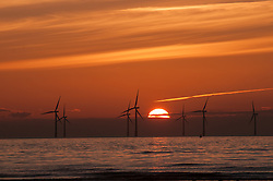 Offshore wind farm, Crosby, NW England