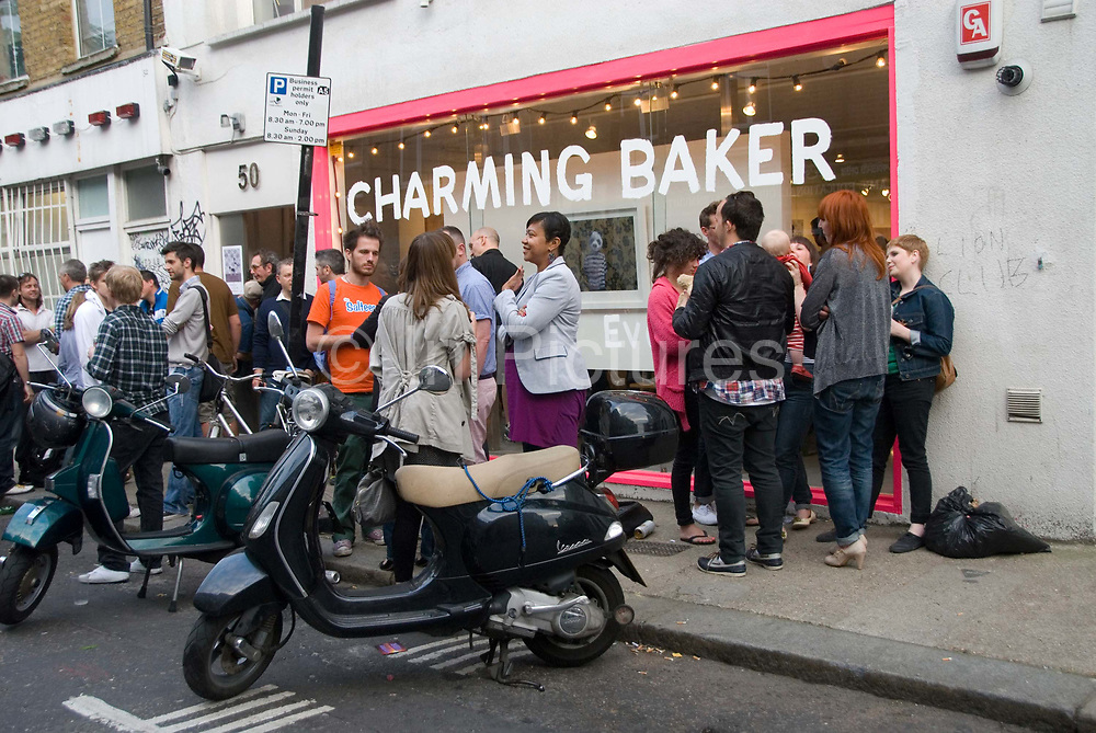 East London June 09 . Redchurch Street Shoreditch gallery opening