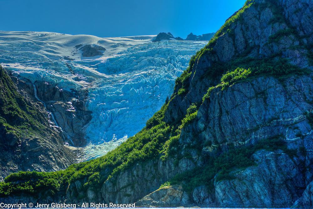 North America, United States, US, Northwest, Pacific Northwest, West, Alaska, Kenai, Kenai Fjords, Kenai Fjords National Park, Kenai Fjords NP. Seldom seen Surprise Glacier in Kenai Fjords National Park, Alaska.