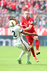 02.04.2016, Allianz Arena, Muenchen, GER, 1. FBL, FC Bayern Muenchen vs Eintracht Frankfurt, 28. Runde, im Bild Timothy Chandler ( Eintracht Frankfurt ) Franck Ribery (FC Bayern Muenchen) // during the German Bundesliga 28th round match between FC Bayern Munich and Eintracht Frankfurt at the Allianz Arena in Muenchen, Germany on 2016/04/02. EXPA Pictures © 2016, PhotoCredit: EXPA/ Eibner-Pressefoto/ Langer<br /> <br /> *****ATTENTION - OUT of GER*****