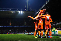 Blackpool's Jay Spearing celebrates scoring his side's second goal with team-mates<br /> <br /> Photographer Chris Vaughan/CameraSport<br /> <br /> The EFL Sky Bet League One - Ipswich Town v Blackpool - Saturday 23rd November 2019 - Portman Road - Ipswich<br /> <br /> World Copyright © 2019 CameraSport. All rights reserved. 43 Linden Ave. Countesthorpe. Leicester. England. LE8 5PG - Tel: +44 (0) 116 277 4147 - admin@camerasport.com - www.camerasport.com