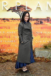 Lisa Nishimura attending the global premiere of Netflix's Our Planet, held at the Natural History Museum, London.