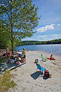 Pocono Mountains, Bear Creek community lake, summer swimming and sail boats