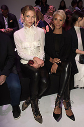 Karlie Kloss and Shym attending at the Shiatzi Chen show as a part of Paris Fashion Week Ready to Wear Spring/Summer 2017 on 04 October, 2016 in Paris, Photo by Laurent Zabulon /ABACAPRESS.COM