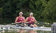 Henley-on-Thames. United Kingdom.  <br /> Double Sculls Challenge Cup. Waiariki RC NZL.NZL M2X. bow. John STORY and Chris HARRIS. 2017 Henley Royal Regatta, Henley Reach, River Thames. <br /> <br /> 17:30:32  Saturday  01/07/2017   <br /> <br /> [Mandatory Credit. Peter SPURRIER/Intersport Images.