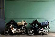 Motorcyclists take a nap, Old Quarter, Hanoi
