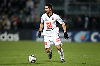 FOOTBALL - FRENCH CUP 2009/2010 - 1/8 FINAL - 09/02/2010 - US QUEVILLY v STADE RENNAIS - PHOTO ERIC BRETAGNON / DPPI - CARLOS BOCANEGRA (REN)